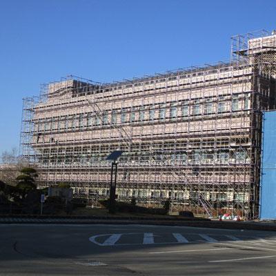 鹿角市庁舎外壁改修
